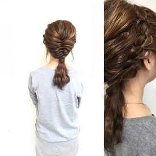ハーフアップ ゆるふわ ショート セミロング ヘアスタイルや髪型の写真・画像 ヘアスタイルや髪型の写真・画像