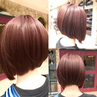 イルミナカラー ピンク 外国人風カラー ボブ ヘアスタイルや髪型の写真・画像