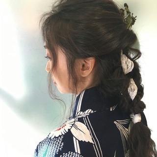 外国人風 ロング 抜け感 ヘアアレンジ ヘアスタイルや髪型の写真・画像