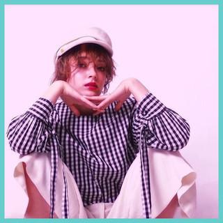 色気 ストリート 外国人風 ボブ ヘアスタイルや髪型の写真・画像