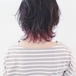マッシュ ナチュラル ミディアム グラデーションカラー ヘアスタイルや髪型の写真・画像