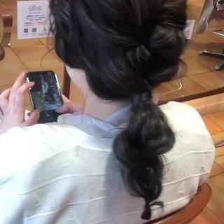 ロング 編みおろし ナチュラル 結婚式ヘアアレンジ ヘアスタイルや髪型の写真・画像