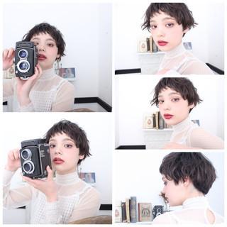 簡単ヘアアレンジ アッシュ ショート ヘアアレンジ ヘアスタイルや髪型の写真・画像