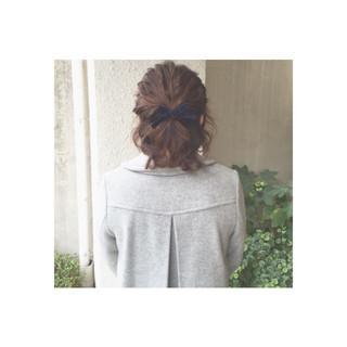 ガーリー 大人女子 簡単ヘアアレンジ ヘアアレンジ ヘアスタイルや髪型の写真・画像