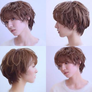 大人カジュアル ショート ナチュラル 大人かわいい ヘアスタイルや髪型の写真・画像