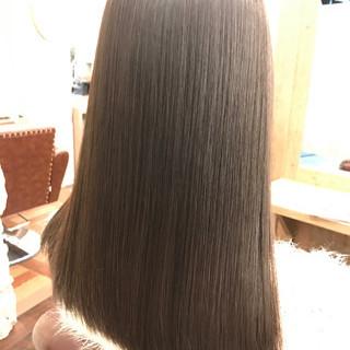 モード 黒髪 デジタルパーマ セミロング ヘアスタイルや髪型の写真・画像