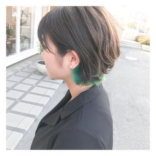 黒髪 女子会 ストリート デート ヘアスタイルや髪型の写真・画像