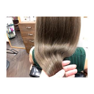 エレガント 艶髪 ロング ハイトーン ヘアスタイルや髪型の写真・画像