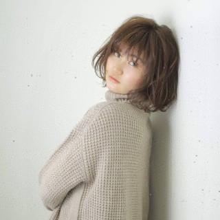 秋冬スタイル こなれ感 かわいい ショートボブ ヘアスタイルや髪型の写真・画像