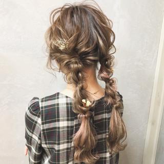 大人かわいい ガーリー 編み込み ロング ヘアスタイルや髪型の写真・画像 ヘアスタイルや髪型の写真・画像