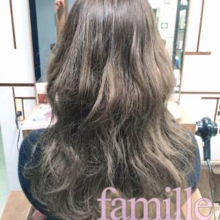 モテ髪 外国人風カラー グレージュ ゆるふわ ヘアスタイルや髪型の写真・画像