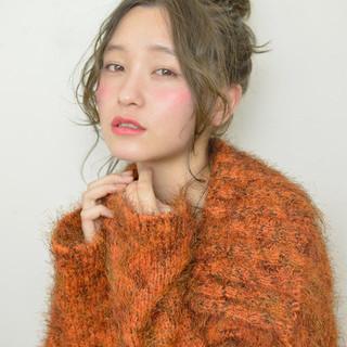 小顔 大人女子 こなれ感 ヘアアレンジ ヘアスタイルや髪型の写真・画像