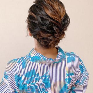 エレガント 着物 浴衣ヘア デート ヘアスタイルや髪型の写真・画像
