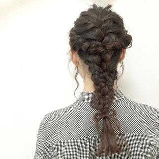 モテ髪 ヘアアレンジ 編み込み ロング ヘアスタイルや髪型の写真・画像 ヘアスタイルや髪型の写真・画像