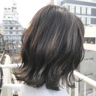 ボブ ミルクティー アッシュ グレージュ ヘアスタイルや髪型の写真・画像