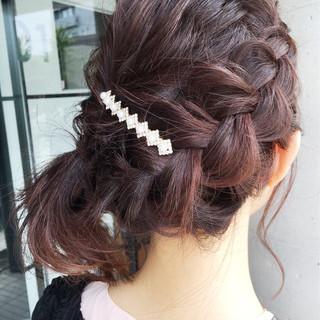 色気 夏 結婚式 リラックス ヘアスタイルや髪型の写真・画像