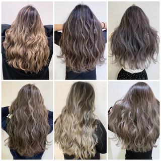 オフィス ロング アウトドア ヘアアレンジ ヘアスタイルや髪型の写真・画像