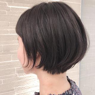 ミニボブ 黒髪 こなれ感 ストリート ヘアスタイルや髪型の写真・画像