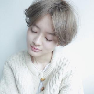 ショート 外国人風カラー ブリーチ ダブルカラー ヘアスタイルや髪型の写真・画像