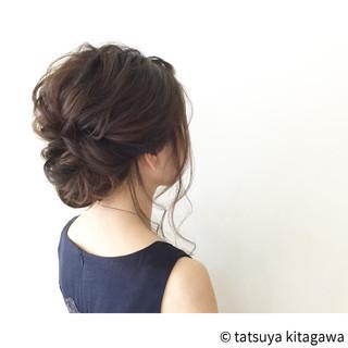 花嫁 結婚式 セミロング 外国人風 ヘアスタイルや髪型の写真・画像