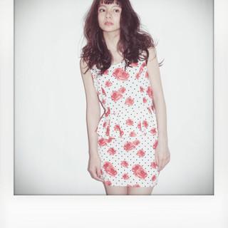 ロング フェミニン 黒髪 かっこいい ヘアスタイルや髪型の写真・画像