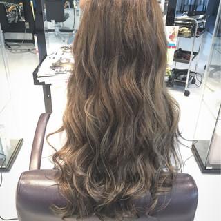 ロング ガーリー ハイライト 外国人風 ヘアスタイルや髪型の写真・画像