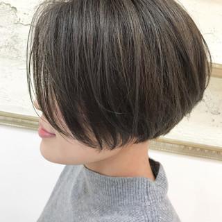 ナチュラル ショート ショートボブ ベリーショート ヘアスタイルや髪型の写真・画像