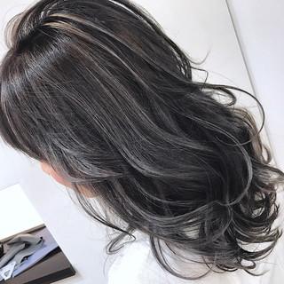 外国人風カラー フェミニン 透明感 ハイライト ヘアスタイルや髪型の写真・画像