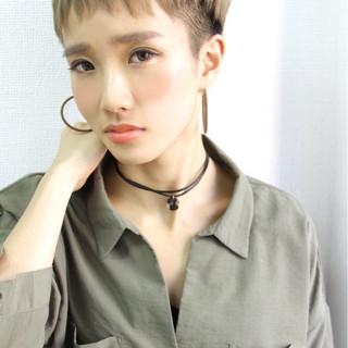 外国人風 ハイライト ナチュラル ベリーショート ヘアスタイルや髪型の写真・画像