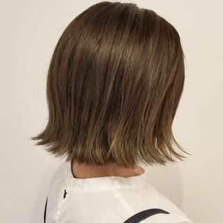 デート 秋 ボブ 透明感 ヘアスタイルや髪型の写真・画像