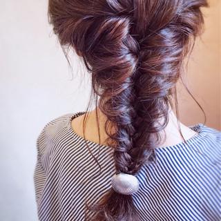 編みおろし 簡単ヘアアレンジ エレガント お呼ばれ ヘアスタイルや髪型の写真・画像 ヘアスタイルや髪型の写真・画像