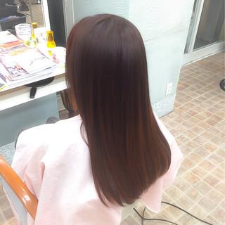 縮毛矯正 パーマ ナチュラル ロング ヘアスタイルや髪型の写真・画像