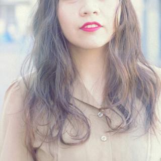 モテ髪 くせ毛風 ゆるふわ 愛され ヘアスタイルや髪型の写真・画像