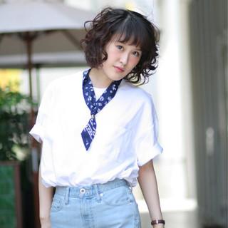 モテ髪 ストリート 簡単ヘアアレンジ ボブ ヘアスタイルや髪型の写真・画像