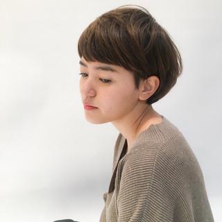 大人女子 かわいい ナチュラル ショート ヘアスタイルや髪型の写真・画像