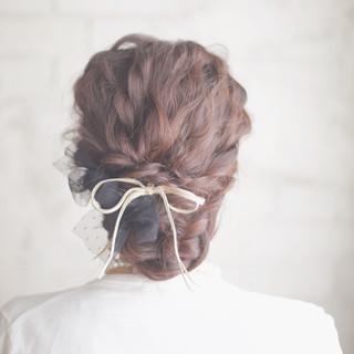 結婚式 ゆるふわ 大人かわいい ヘアアレンジ ヘアスタイルや髪型の写真・画像 ヘアスタイルや髪型の写真・画像