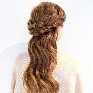 アウトドア デート ロング ヘアアレンジ ヘアスタイルや髪型の写真・画像