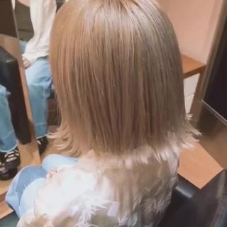ショート 外国人風カラー ナチュラル ロブ ヘアスタイルや髪型の写真・画像