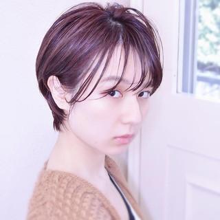 ショートヘア ショートボブ モテ髪 ハンサムショート ヘアスタイルや髪型の写真・画像 ヘアスタイルや髪型の写真・画像
