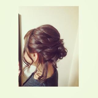 ミディアム 大人かわいい アップスタイル ヘアアレンジ ヘアスタイルや髪型の写真・画像