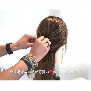 ロング 女子会 フェミニン ショート ヘアスタイルや髪型の写真・画像