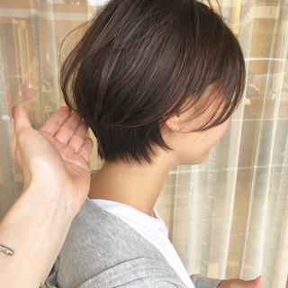 ショートボブ ナチュラル 大人ショート ショート ヘアスタイルや髪型の写真・画像