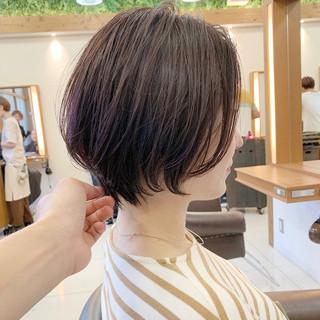 ショートボブ ショート ナチュラル 大人ショート ヘアスタイルや髪型の写真・画像