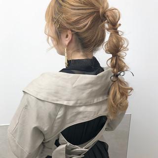 ポニーテール モード ハイトーン ハイトーンカラー ヘアスタイルや髪型の写真・画像