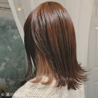 デート グラデーションカラー ミディアム ナチュラル ヘアスタイルや髪型の写真・画像