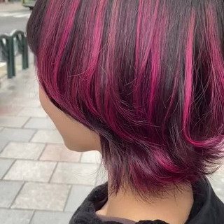 ストリート ハイライト ウルフカット マッシュウルフ ヘアスタイルや髪型の写真・画像