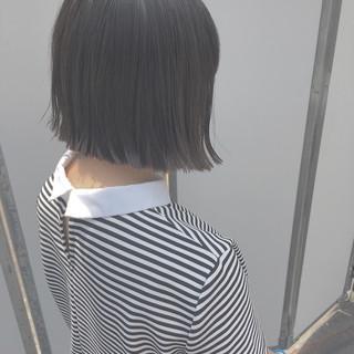 ナチュラル 透明感 グレージュ 黒髪 ヘアスタイルや髪型の写真・画像