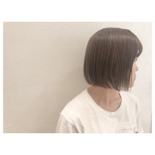ボブ アッシュグレージュ アッシュ リラックス ヘアスタイルや髪型の写真・画像
