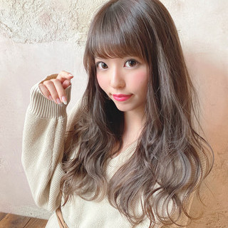 大人女子 大人ハイライト 大人かわいい 流し前髪 ヘアスタイルや髪型の写真・画像