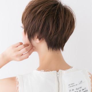 前下がり ショート ナチュラル ショートボブ ヘアスタイルや髪型の写真・画像 ヘアスタイルや髪型の写真・画像